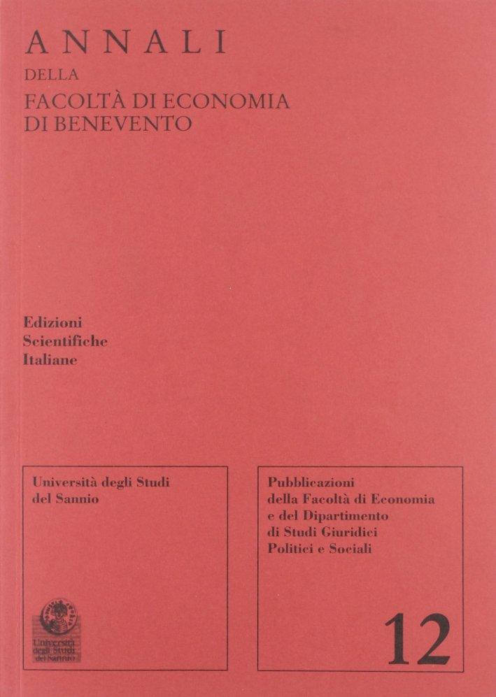 Annali della Facoltà di economia di Benevento. Vol. 12