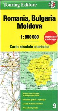 Romania. Bulgaria. Moldavia 1:800.000