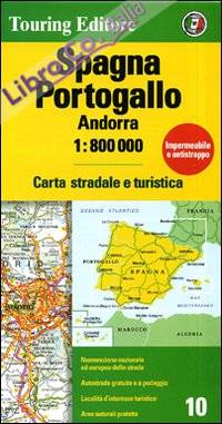 Spagna. Portogallo. Andorra 1:800.000