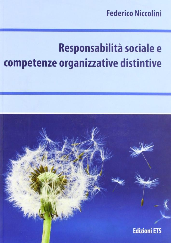 Responsabilità sociale e competenze organizzative distintive