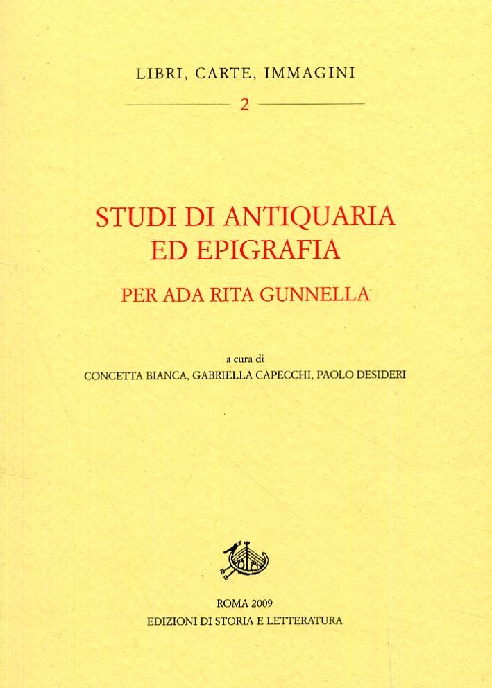 Studi di antiquaria ed epigrafia per Ada Rita Gunnella