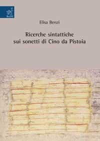 Ricerche sintattiche sui sonetti di Cino da Pistoia