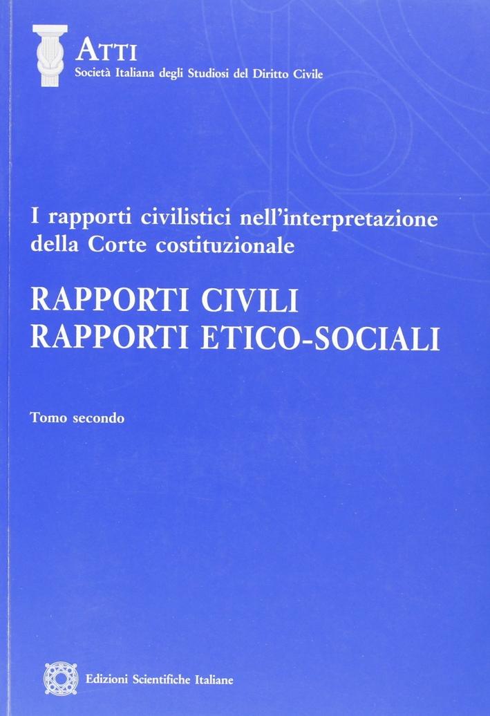 I rapporti civilistici nell'interpretazione.