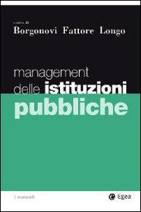 Management delle istituzioni pubbliche.