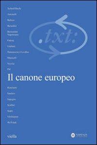 Critica del testo. Vol. 10/1: Il canone europeo