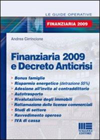 Finanziaria 2009 e decreto anticrisi
