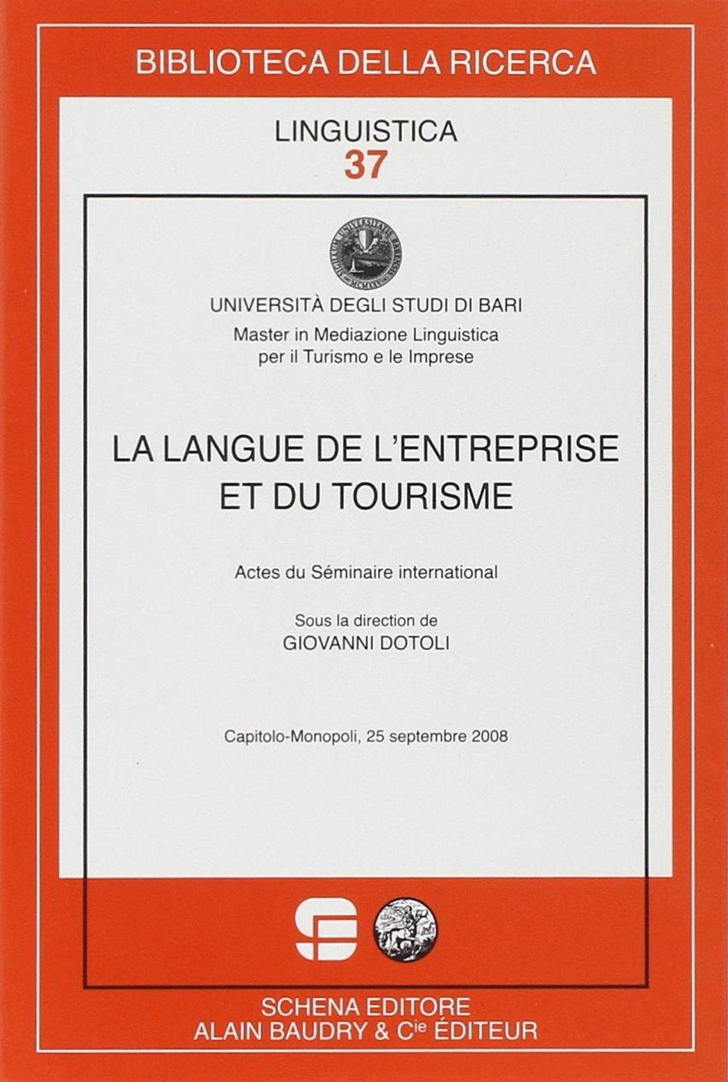 La langue de l'entreprise et du tourisme