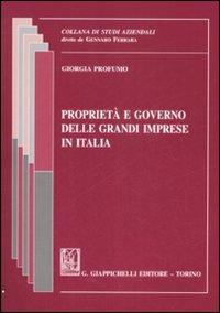 Proprietà e governo delle grandi imprese in italia
