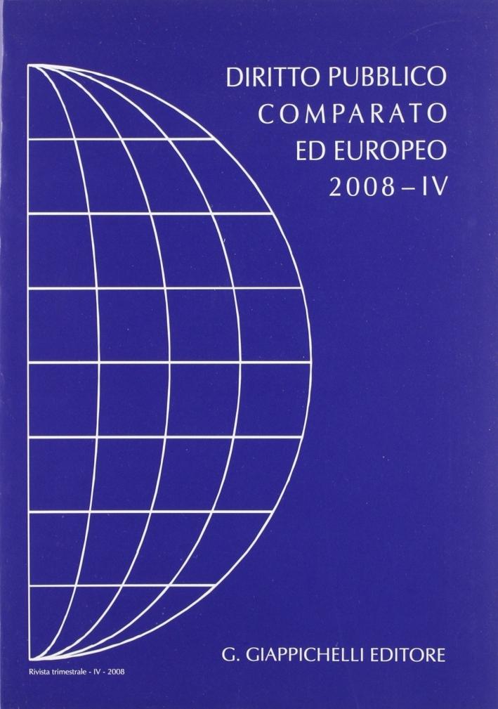 Rivista di Diritto Pubblico Comparato ed Europeo 2008/4.