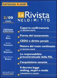 La rivista di Neldiritto (2009). Vol. 2