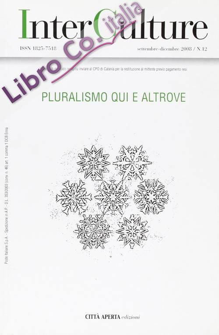 InterCulture. Vol. 12: Pluralismo qui e altrove.