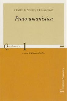 Centro di Studi sul Classicismo. Prato Umanistica. Quaderno n. 1.