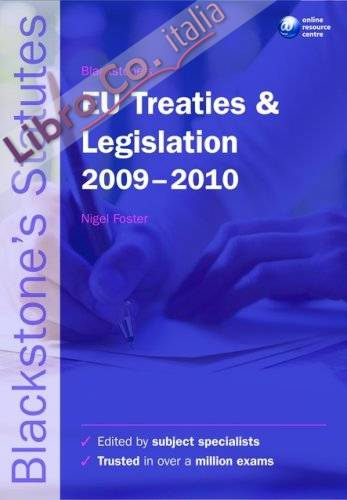 Blackstone's EU Treaties and Legislation.