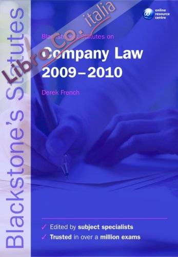 Blackstone's Statutes on Company Law.