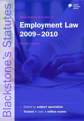 Blackstone's Statutes on Employment Law.