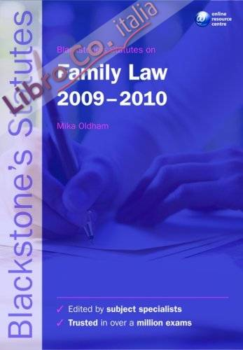 Blackstone's Statutes on Family Law.
