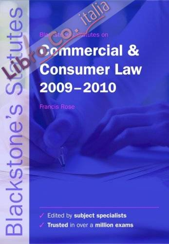 Blackstone's Statutes on Commercial and Consumer Law.