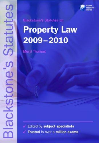 Blackstone's Statutes on Property Law.