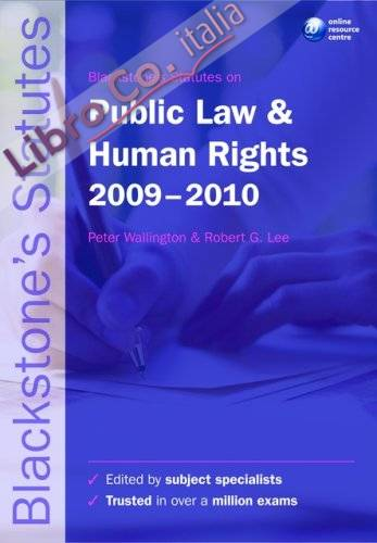 Blackstone's Statutes on Public Law and Human Rights.