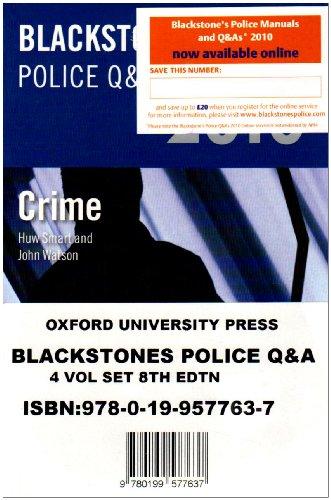 Blackstone's Police Q&A: Four Volume Pack 2010.
