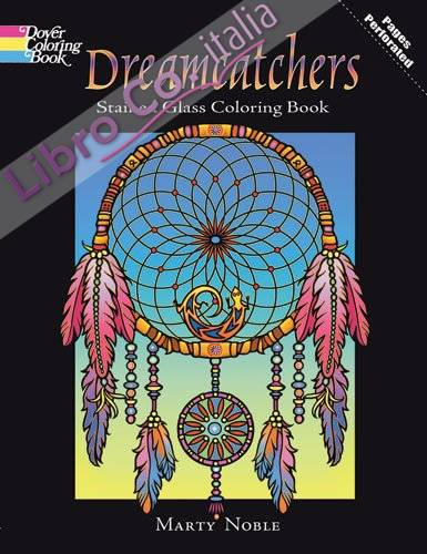 Dreamcatchers Stained Glass Coloring Book.