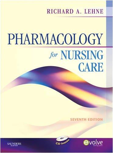 Pharmacology for Nursing Care.