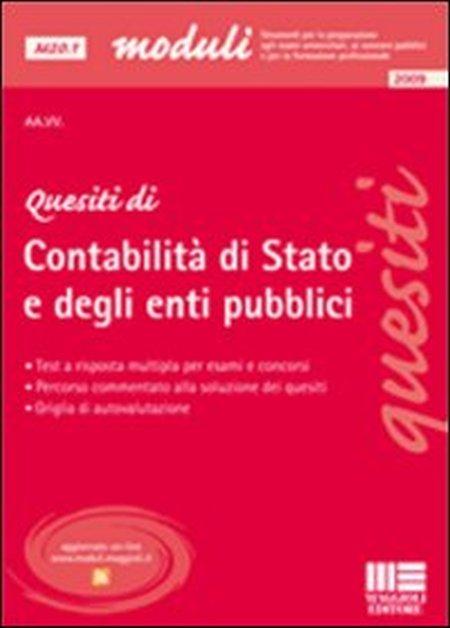 Quesiti di contabilità di stato e degli enti pubblici