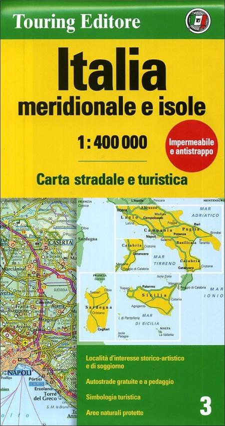 Italia meridionale e isole 1:400.000