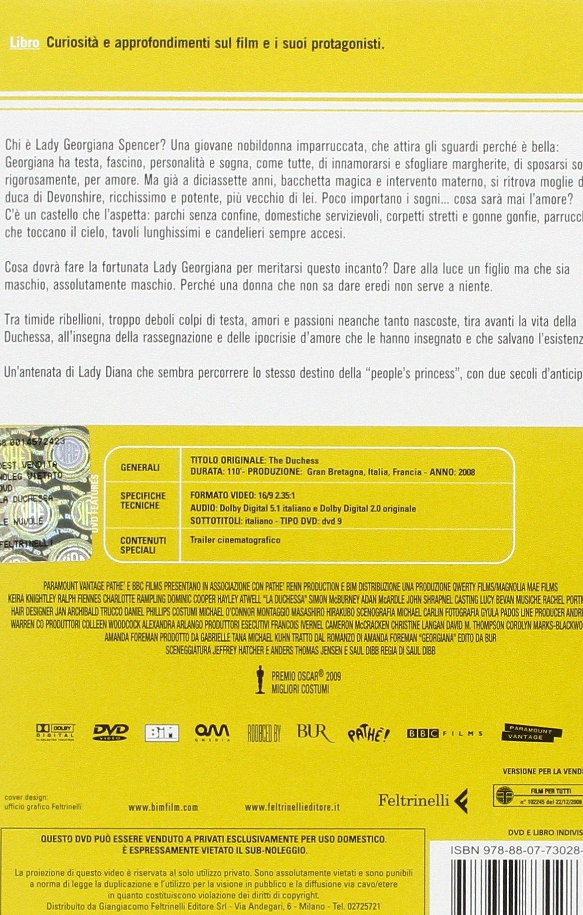 La Duchessa. DVD. con Libro