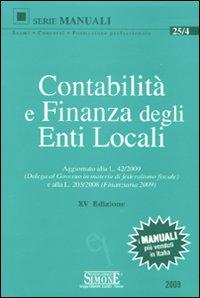 Contabilità e finanza degli enti locali.