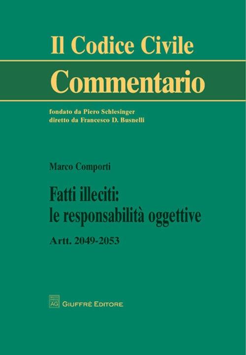 Fatti illeciti. Le responsabilità oggettive. Artt. 2049-2053