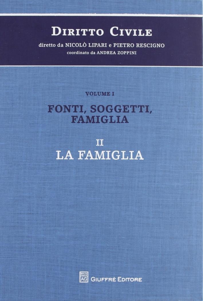 Diritto civile. Vol. 1/2: Fonti, soggetti, famiglia. La famiglia