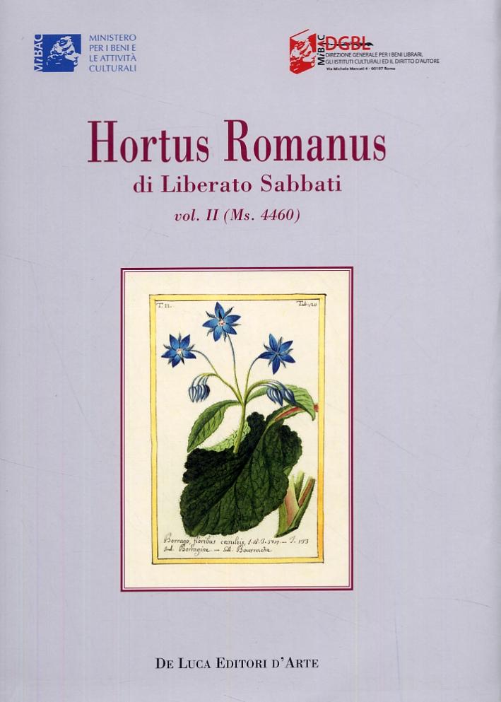 Hortus Romanus di Liberato Sabbati. Vol. II (Ms. 4460)