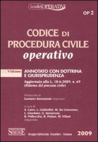 Codice di procedura civile operativo. Annotato con dottrina e giurisprudenza
