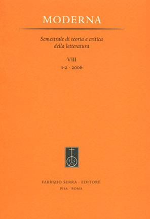Moderna. Semestrale di Teoria e Critica della Letteratura. 10. 2. 2008