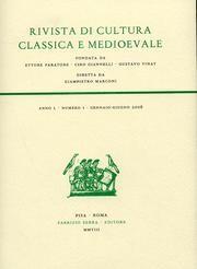 Rivista di cultura classica e medioevale. 51. 1. 2009