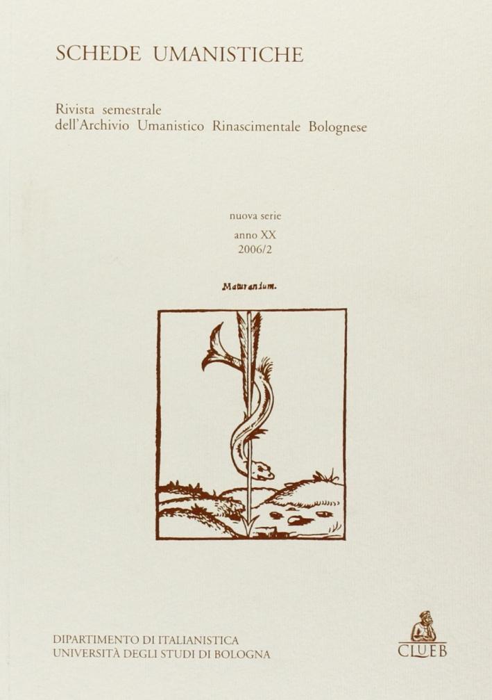 Schede umanistiche (2006). Vol. 2.