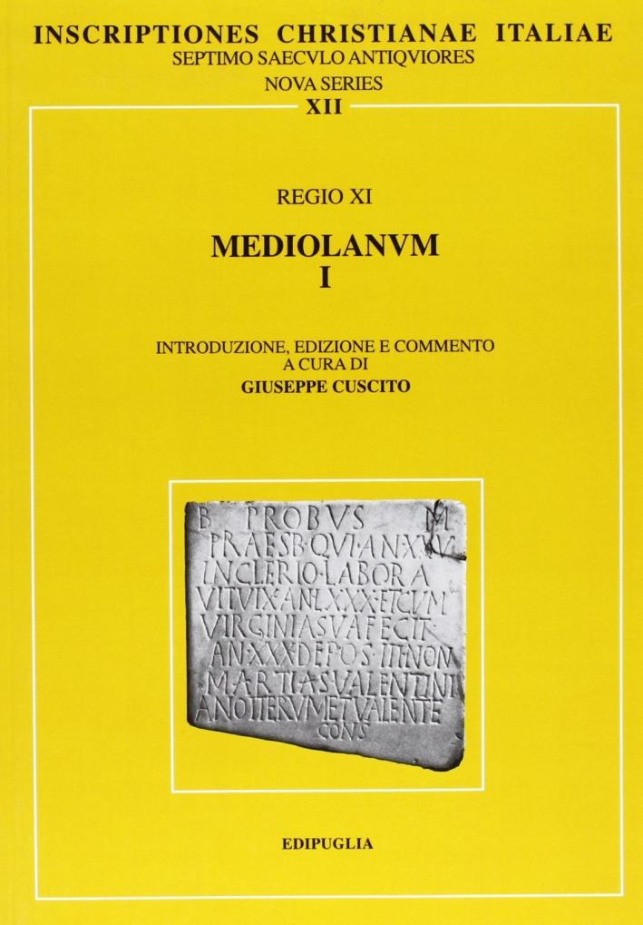 Regio XI. Mediolanum I