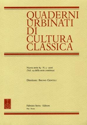 Quaderni urbinati di cultura classica. 90. 3. 2008