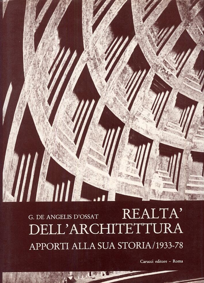 Realtà dell'architettura. Apporti alla sua storia 1993-78.