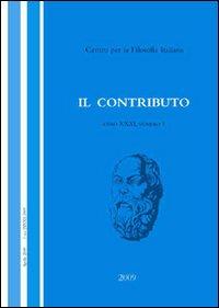 Il contributo (2009). Vol. 1.