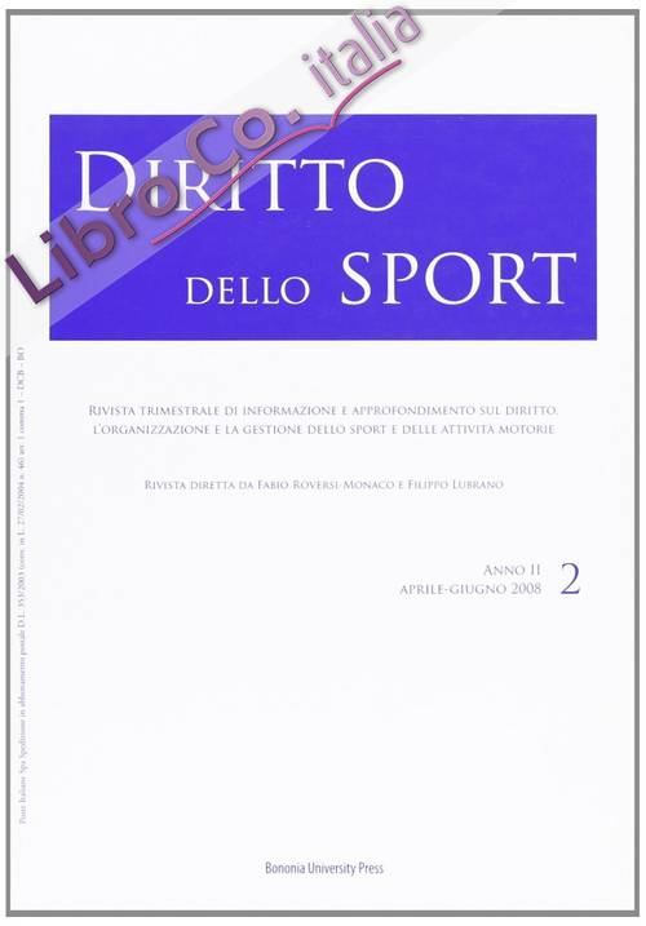 Diritto dello sport (2008). Vol. 2