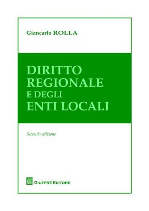 Diritto regionale e degli enti locali