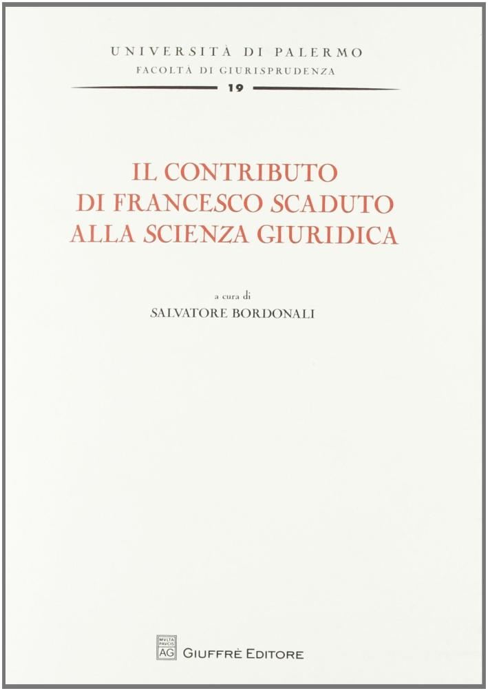 Il contributo di Francesco Scaduto alla scienza giuridica