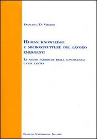 Human knowledge e microstrutture del lavoro emergenti