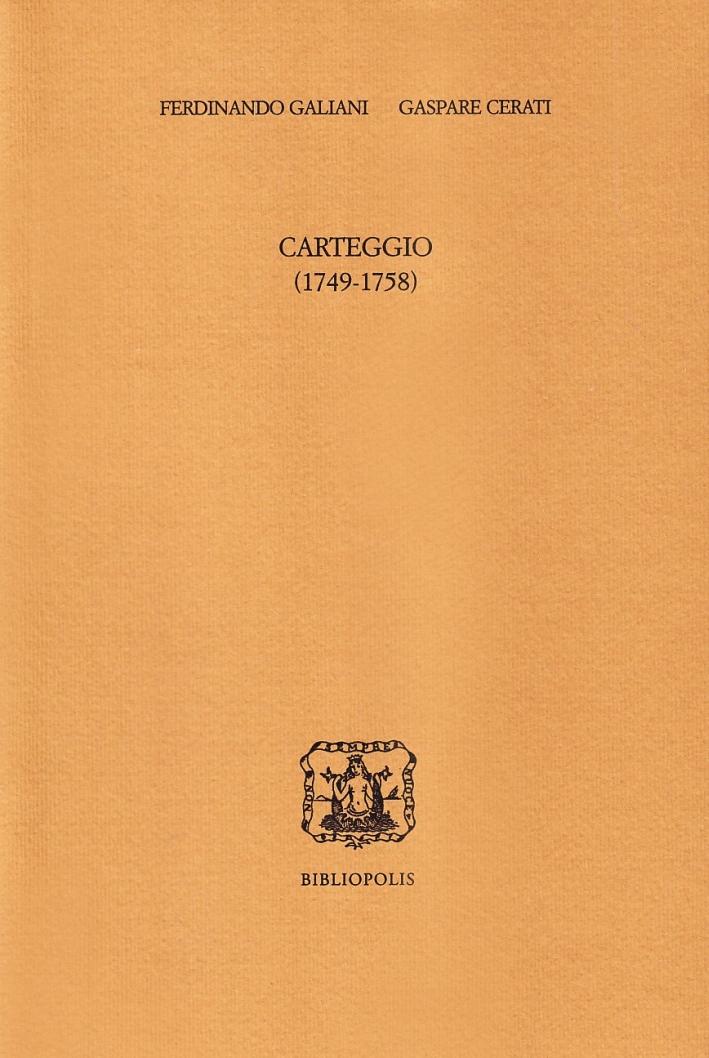 Carteggio (1749-1758)