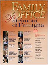 Family office (2009). Vol. 3: Speciale sussidiarietà e non profit