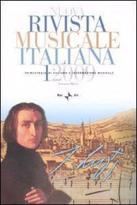 Nuova Rivista Musicale Italiana (2009). Vol. 1