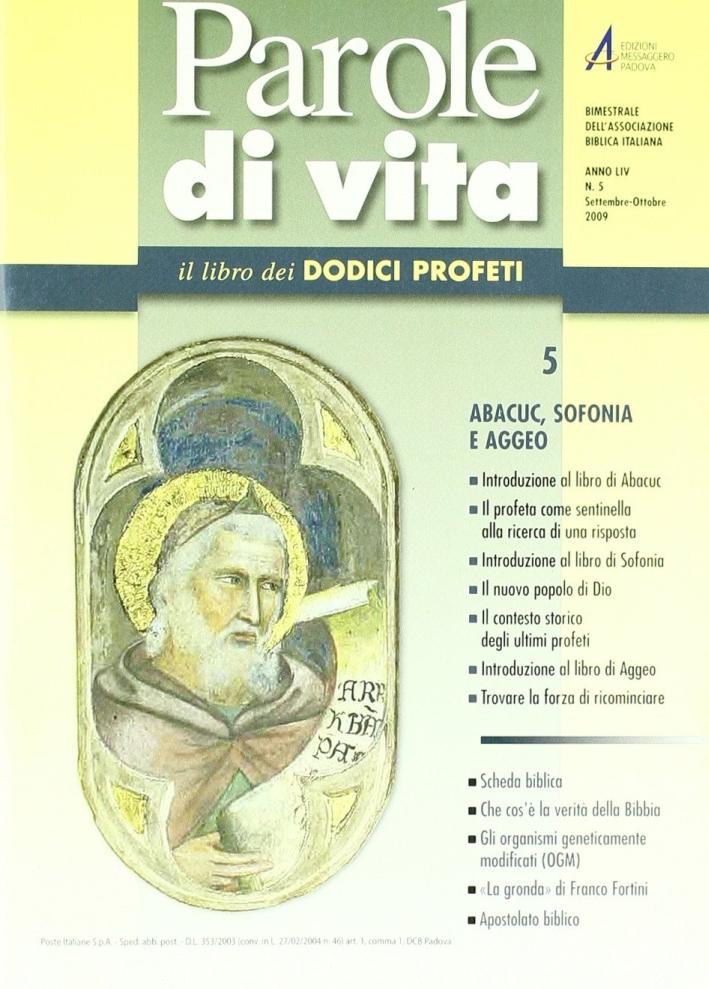 Parole di vita (2009). Vol. 5: Abacuc, Sofonia e Aggeo