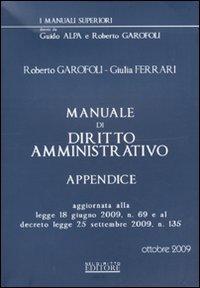 Manuale di diritto amministrativo. Appendice